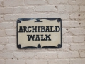 """Archibald Walk"" Sign 12-30-2013"